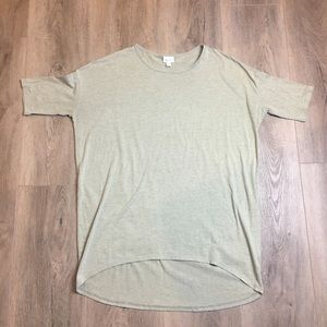 LuLaRoe Khaki Green Irma Tunic Top